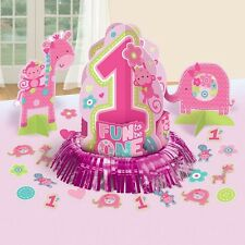 Girl 1st Birthday Party Supplies Decorations ONE WILD girls Table Decorating Kit