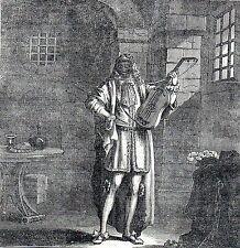 Antique print :Man in the Iron Mask / L'Homme au Masque de Fer / gravure 1836