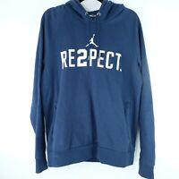 Nike Jordan Brand Jeter Re2pect Hoodie Men's Sz M Navy Blue White Respect Derek