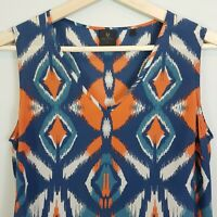 [ DAVID LAWRENCE ] Womens Silk Print Blouse Top | Size AU 8 or US 4