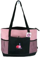 Nail Polish Monogram Bag Gemline Select Pink Zipper Tote Salon Tech Beauty Gift