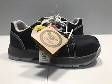 Women's Dr Martens Industrial Safety Toe Work Boots size 6 Black White 5 Eye