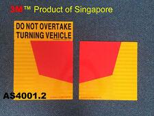 Do Not Overtake Turning Vehicle Traffic retro-Reflective Sign Self Adhesive PVC