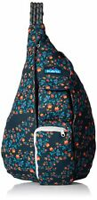 KAVU Rope Bag Sling Crossbody Backpack Travel Cotton Purse -  Wild Poppy