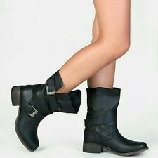 Steve Madden Brewzzer Boots Black Leather Sz 11 M Great Cond