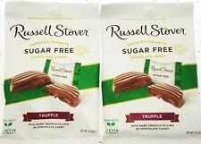 Russell Stover sans Sucre Truffle Chocolat Foncé Candy 3oz Sac ~ Lot de 2