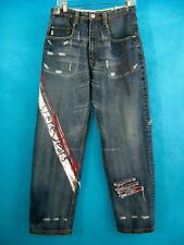 Paint Jeans Red Distressed Womans 30x30 Denim Pepe London Embellished High Waist