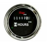 "Hour Meter 2"" Round Gauge, 10v to 24v for Trucks, Pumps, Boats, Generators NEW"