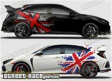Honda Civic Rally 026 racing motorsport graphics stickers decals UNION JACK