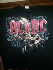 AC DC 2008 Black Ice World Tour Black Large Vintage Concert Shirt Unworn size L
