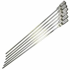 Matador PREMIUM BARBECUE SKEWER 33cm 6Pcs,Flat Prong, Built-In Handle*Aust Brand