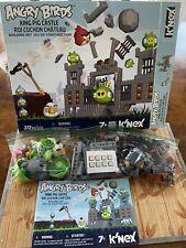 K'Nex Angry Birds King Pig Castle Building Blocks Set 91% Complete + All Figures