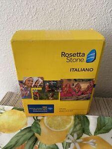 ROSETTA STONE Italian Version 4, Level 1, 2, 3, 4, 5 (1-5) Italiano New In Box