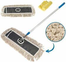 "Houseables Dust Mop, Large Floor Cleaning Mops, 34""-59"", 24"" W, 1 Handle, 1"
