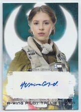 2018 Star Wars The Last Jedi Series 2 Hermione Corfield Autograph Card Tallie