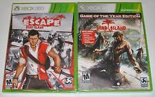 XBox 360 Game Lot - Dead Island Game of the Year (New) Escape Dead Island (New)