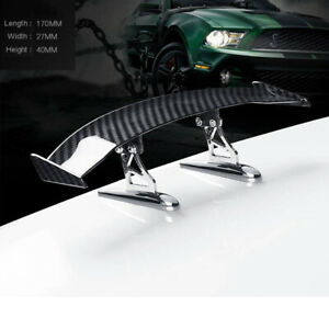 Carbon Fiber Look Mini Small Wing Rear Tail Spoiler ABS Plastic Toy Decoration