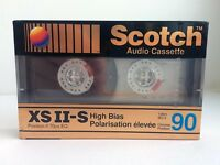 SCOTCH XS II-S 90 RARE BLANK AUDIO CASSETTE TAPE NEW 1990 YEAR KOREA MADE