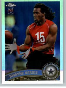 2011 Topps Chrome Refractor #145 Dwayne Harris RC - Dallas Cowboys Rookie
