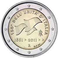 Italien 2 Euro 150 Jahre Vereinigung von Italien 2011 Gedenkmünze prägefrisch
