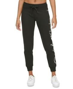 Calvin Klein Women's Performance Logo Joggers, Black, Size M, $60, NwT