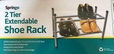 2 Tier Extendable Shoe Rack Shoes Storage Organiser Holder