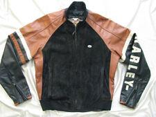 Harley Davidson Leather Jacket Made in USA Speedway Bomber Orange Black Men M