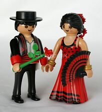 PLAYMOBIL MARIAGE - couple espagnol - danseurs flamenco - sujets pièce montée