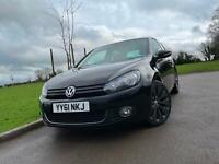 2011 61 VOLKSWAGEN GOLF 2.0 TDI GT 3DR *HEATED LEATHER, 18inc ALLOYS, CRUISE*