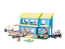 576 Pieces Beach House , LEGO City Compatible Car, Trailer & Boat Building Set