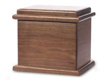 Wood Cremation Urn. Deluxe model with a Black Walnut Finish