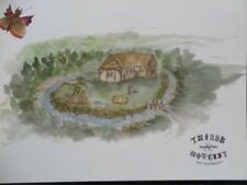 POSTCARD YORKSHIRE THIRSK AND SOWERBY PAST AND PRESENT - MOATED SITE - INFO ON R