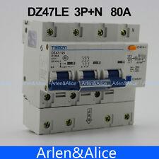 DZ47LE 3P+N 80A D type 400V~ 50HZ/60HZ Residual current Circuit breaker  RCBO