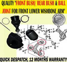 Para HRV HR-V 1.6 98-06 Bush Arbustos & Rótula Para Frontal Inferior Wishbone Brazo