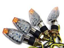 4 X CHROME LED TURN SIGNALS BLINKER INDICATOR LIGHT FOR YAMAHA YZF R1 R6 R3 FZ6R