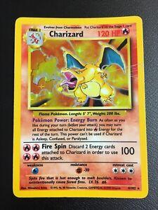 Pokemon Card Charizard Holo 4/102 1999 Base Set - Rare Card!
