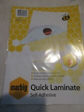 5 x Marbig Quick Laminating Sheet 305x230mm 140 Micron free postage