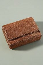 Anthropologie Moyna Party Time Beaded Clutch in Copper Color NWT