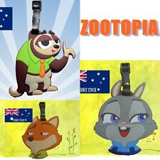 3 x Zootopia Characters Travel Luggage School Sport Bag Tag Name Address Suitcas