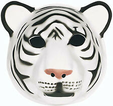 NEW Soft Foam White Tiger Character Mask 28cm x 30cm