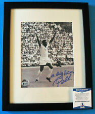PELE SIGNED w/ BECKETT COA -  Autographed & Framed 8x10 Photo (Brazil, Soccer)!