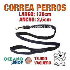 CORREA PERRO TEJIDO VAQUERO DE CALIDAD 120cm LARGO L61 2805