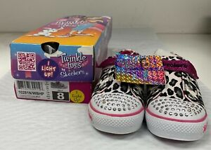 Sketchers Twinkle Toes Girl's S-Light Shuffles Lil Wild Size 8-New! LED LIGHTS!