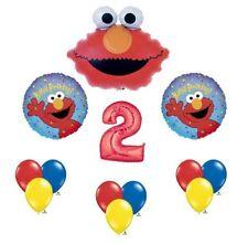 Elmo Sesame Street #2 2nd Second Birthday Party Supply Balloon Mylar Latex Set