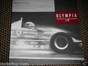 BROOKS AUCTION CATALOGUE 1992 No18 OLYMPIA LONDON GILLES VILLENEUVE FERRARI 312T