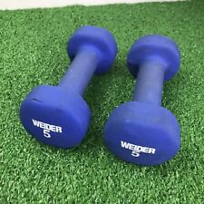 Neoprene Dumbbell PAIR Home Gym Hand Weights Weider 5 LB