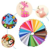 40X Colourful Sewing Non-woven Fabric DIY Felt Handcraft Handmade Craft 15x10cm