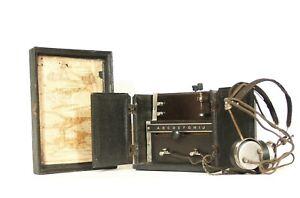 "1921 Commerce Radio Phone * Unusual, Primitive, ""Radio-In-A-Box"" Made In Detroit"