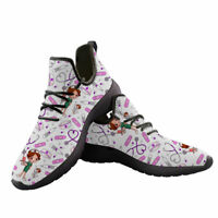 Womens Mesh Sneakers Nurse Shoes Light Breathable Flats Sneaker Casual Shoes