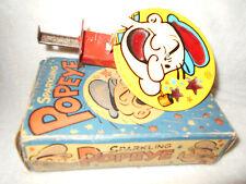 RARE 1959 Chein Tin Litho Celluloid Sparkling Popeye WORKS Push Button Toy NMIB
